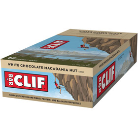 CLIF Bar Energy Bar Box 12x68g, White Chocolate Macadamia Nut